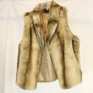 Woodland Women's M Faux Fur Vest Cashmere Blend